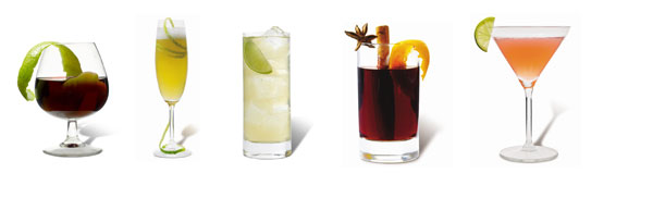 Range of cocktails