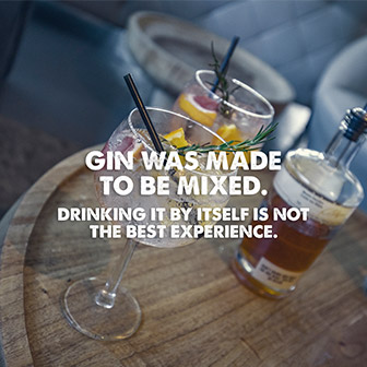 Gin was made to be mixed. Drinking it by itself is not the best experience.